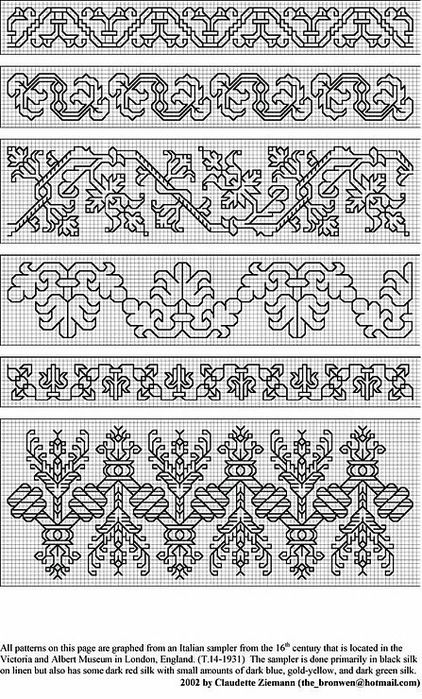 (I think that, out of these patterns, the bottom one is my favorite.) 8