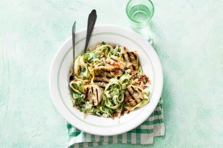 Tagliatelle met spinazie en artisjokharten - Recept - Allerhande - Albert Heijn