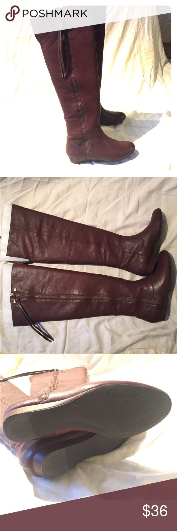 Jessica Simpson over the knee brown boots Tall over the knee, side zipper boots Jessica Simpson Shoes Over the Knee Boots
