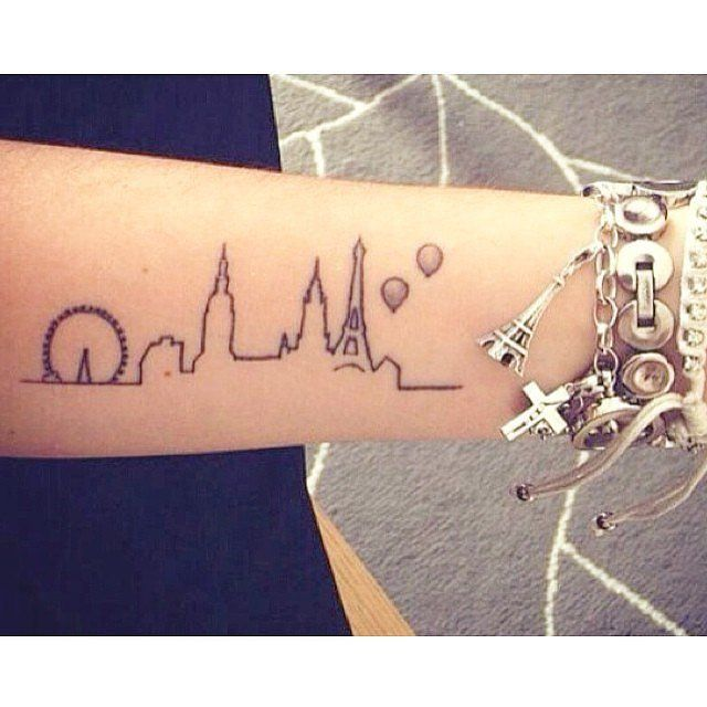 32 City Skyline Tattoos That Prove Home Is Where Your Ink Is: There's no better way to make your city pride more permanent than with some creative ink.