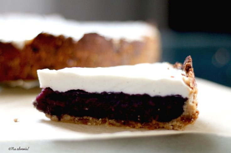 Blueberry tart with white cheese.