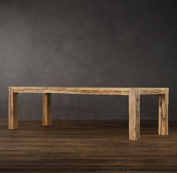 Superb Parsons Reclaimed Russian Oak Dining Table | Rectangular Dining Tables | Restoration  Hardware