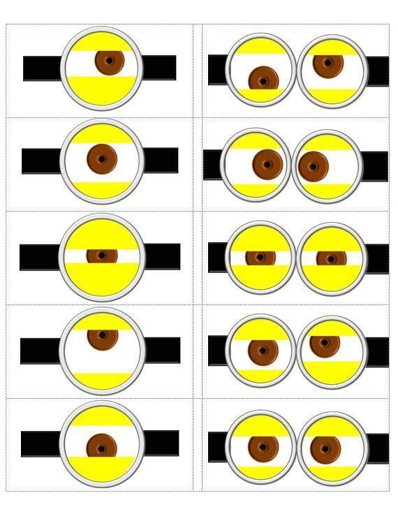 Minion Eyes Printable   despicable me templates   Despicable Me Minion Eye Template made by ...