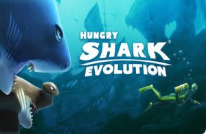 Hungry Shark Evolution is a free game app for the Android developed by Future Games of London. The game lets you again play as the insatiable shark. The hungry shark is now back, but lets you begin with the game as a little pup  mange to grow yourself as the biggest and baddest great white shark on the planet.
