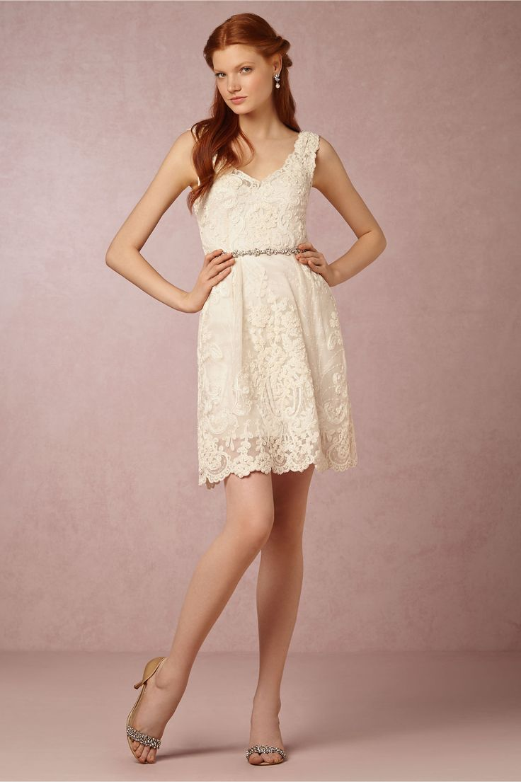 little white reception or bridal shower dress alexandra dress from bhldn