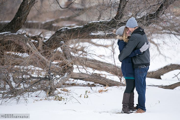 Engagement photos near the Red River in Stephen Juba Park