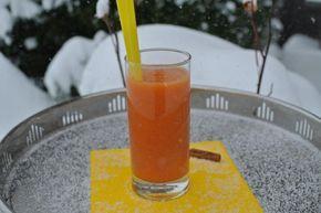 Orangen-Zimt-Smoothie mit Ingwer: Farbe im Winter - Organisation Büro, Haushalt organisieren, Rezepte Thermomix