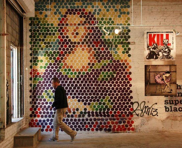 Rene Gagnon Art show. Mona Lisa bubble