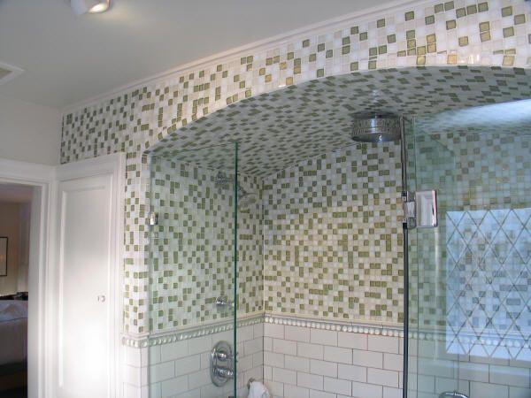 Glass Mosaic Tile Bathroom Ideas With Mosaic Diy Ceramic Floor Decorative  Wall Penny Clear Brick Stainless