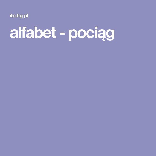 alfabet - pociąg
