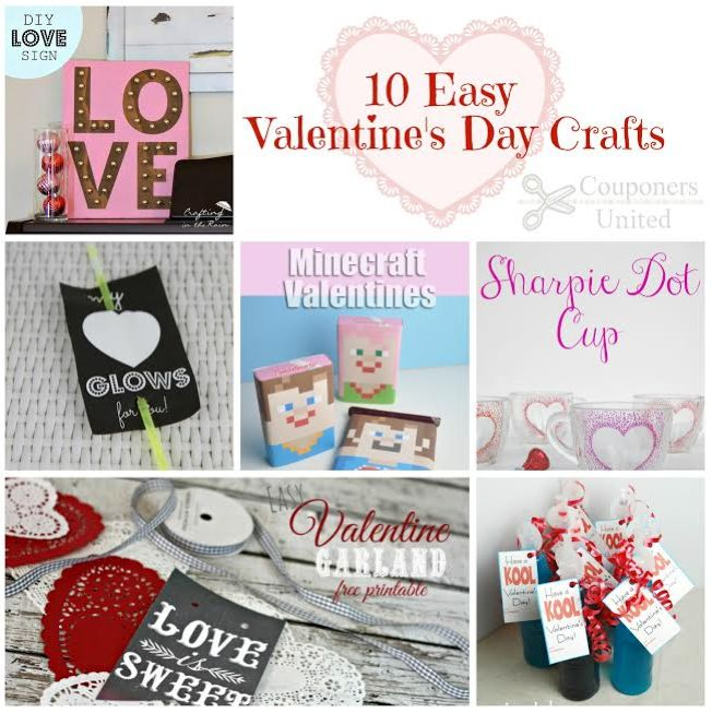 10 EASY Valentine's Day Crafts – For The Entire Family