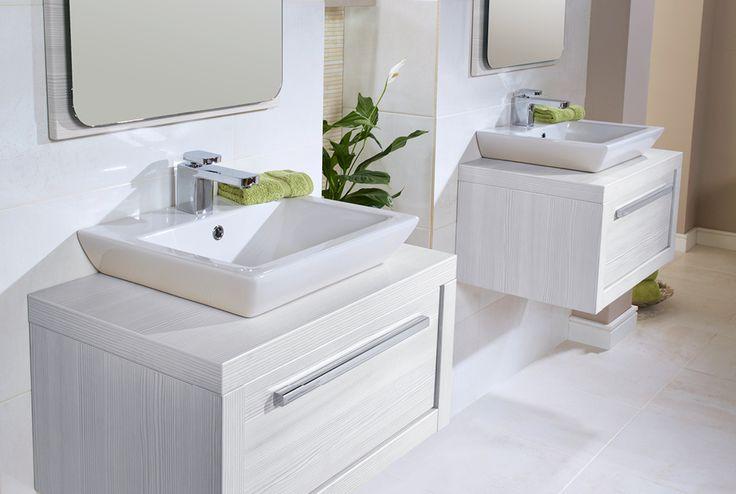 Twin quantum square elegant sit-on basins #ilinemodular #bathroomfurniture #myutopia