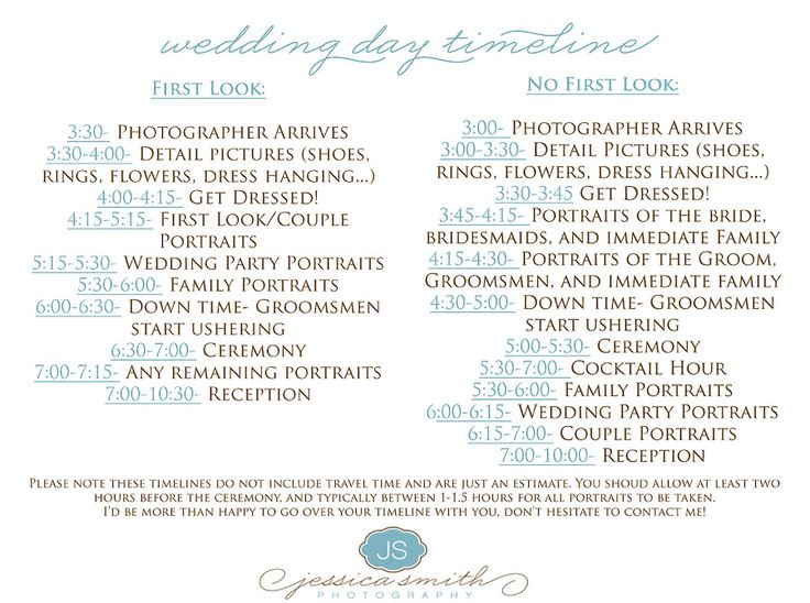 17 Best ideas about Wedding Timeline Template – Wedding Schedule Template