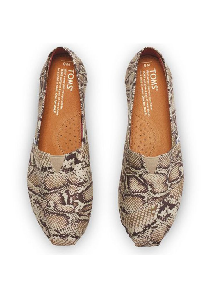 Just in! TOMS Snake print canvas Classics