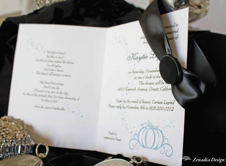 A Cinderella Inspired Bridal Shower Invitation