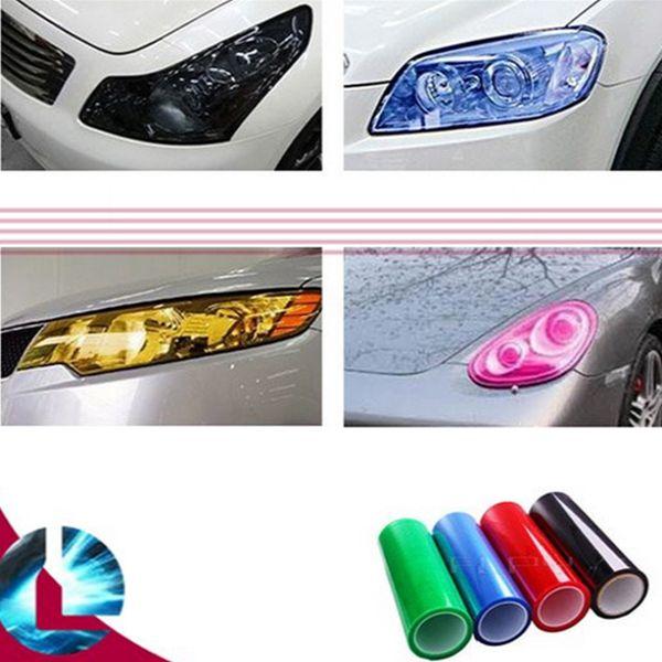 Car Headlight DIY Sticker Fog Xenon Light Tint Vinyl Film Sheet