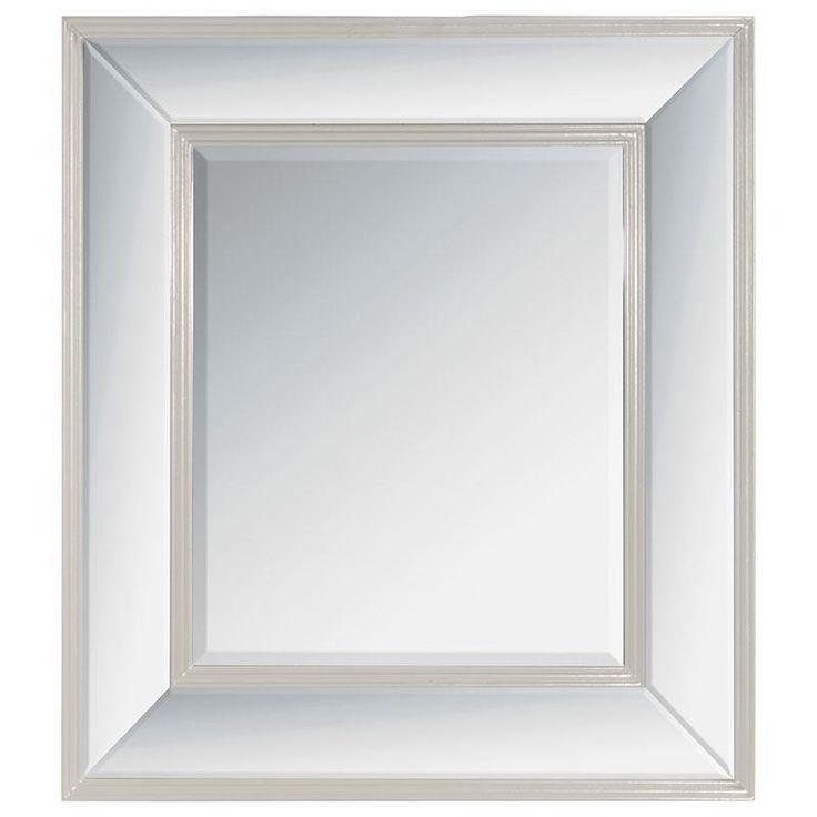 Beautiful wooden wall #mirror in antique grey color. www.inart.com