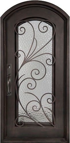 40x98 Summer Breeze Iron Door. Beautiful wrought iron front entry door with grille from Door Clearance Center.
