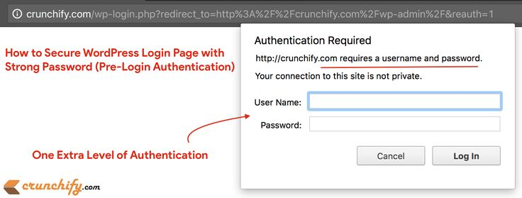 Do you know about securing #WordPress Login Page (wp-admin) with Strong #Password (Pre-Login #auth) http://crunchify.com/how-to-secure-wordpress-login-page-with-additional-strong-password-pre-login-authentication/ #security #safe