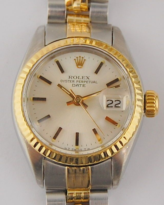 #Forsale Ladies Two Tone #Rolex Oyster Perpetual Date 6917 25mm Automatic Wrist Watch #Auction @$1,025.00