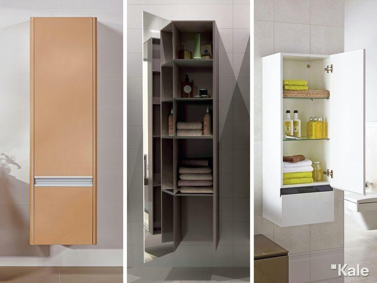 Geniş depolama alanı olan mobilyalar banyolarda fonksiyonel kullanım alanı yaratır. Bölmeli rafları olan boy dolaplarıyla banyo tekstil ürünleri için ekstra yer kazanabilirsiniz.  #Kale #banyo #tasarım #bathroom #bathroomidea #dekorasyon #dekorasyonönerileri #decorationidea #mobilyadekorasyon #furnituredesign