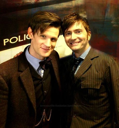 The Tenth Doctor and The Eleventh Doctor. :)