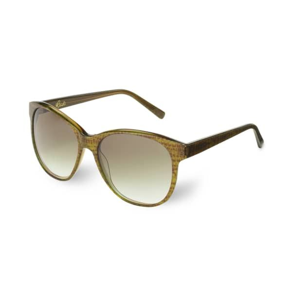 HEIDI LONDON Round Cateye Frame Sunglasses Khaki. #heidilondon #all