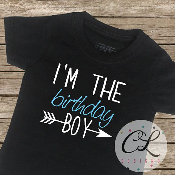 Birthday Boy Shirt / Birthday T-Shirt Arrow by CourtneyLeighPrints