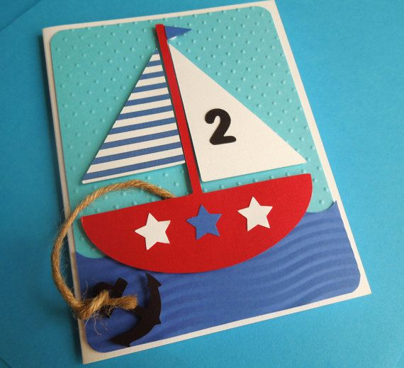 Sailboat / Nautical Birthday Invitation set of by DianesPaperParty