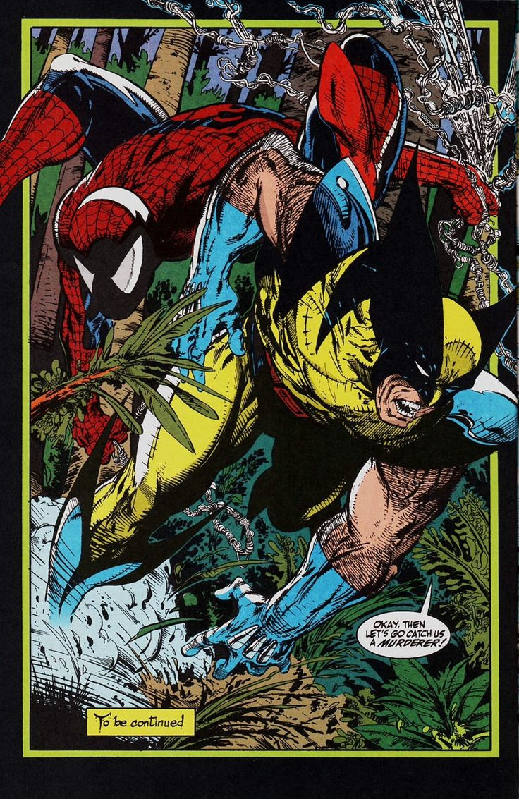 """Spider-Man & Wolverine by Todd McFarlane - """"Okay, then let's go catch us a murderer!"""""""