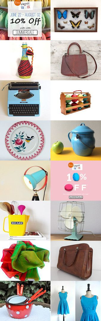 French Summer Sale >>> 10% off - 10% off your purchases in all these shops with coupon code: SUMMERSALE. Ends August 2nd ★ by Maggie De MagicPuce on Etsy #sale #summersale #10%off #etsy #etsyfr #frenchvintage #french #vintage #etsyvintage #vintagefinds #france #frenchtouch #vintagefr #retro #midcenturymodern #paris #bestvintage #brocante #vintagefrance #vintagefr #brocante #fleamarket