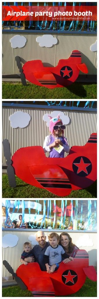 An airplane party for a boys first birthday: photo booth. www.quittingthequickfix.com #photobooth #airplaneparty #planes