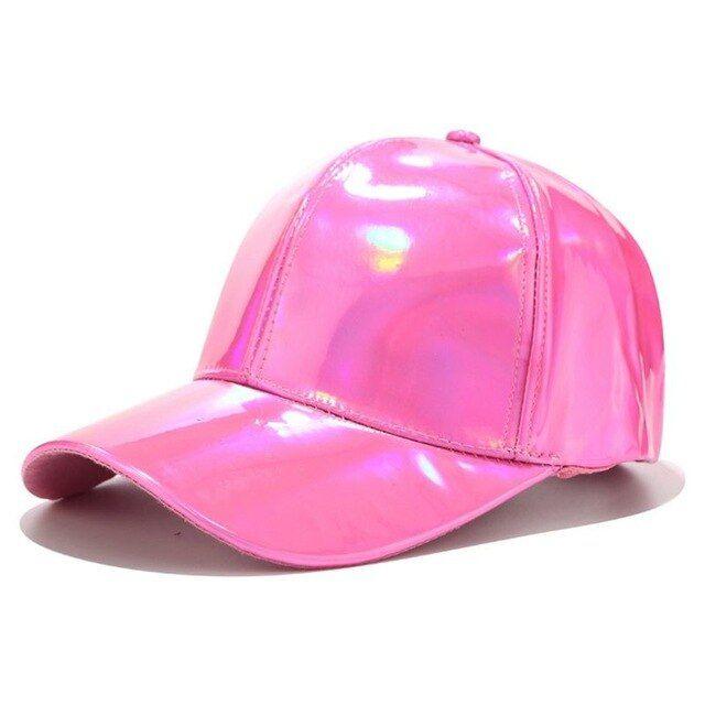 New Holographic Glitter Baseball Cap Mens Womens Hip-Hop Snapback Hat