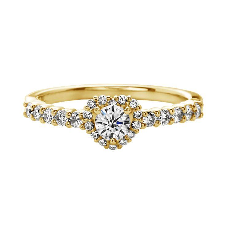 エメ Aimer-エンゲージリング-イエローゴールド-メレダイヤ-リング ... 婚約指輪 エンゲージリング エメ