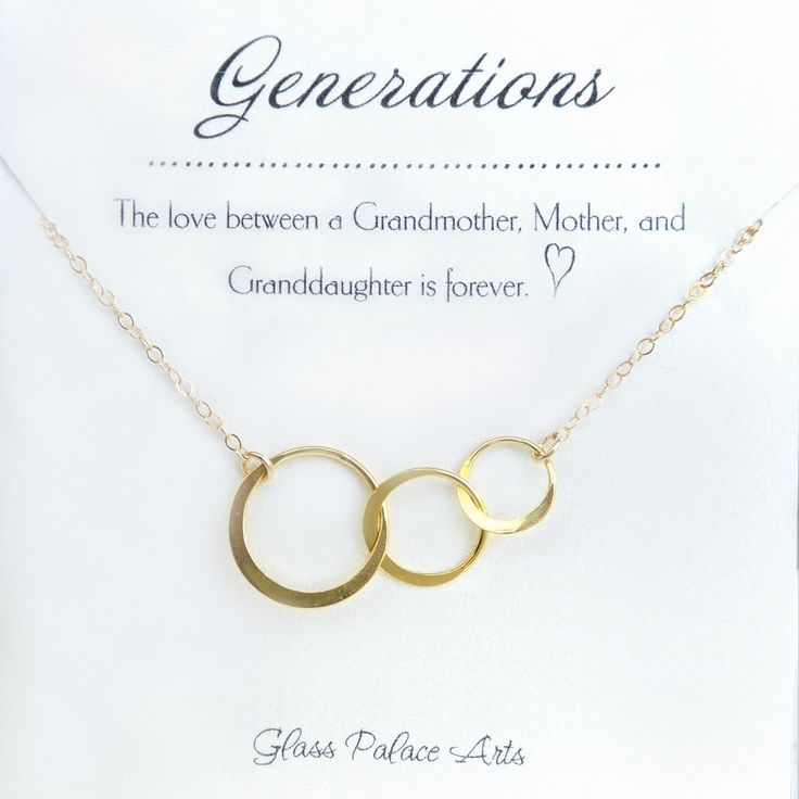 Three Generations Necklace - Grandmother Jewelry - Grandma Mother Daughter Necklace