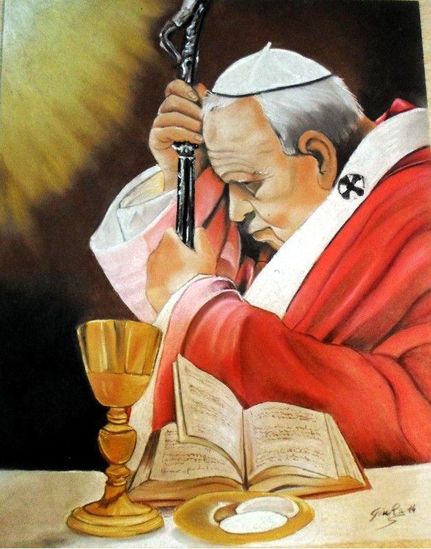 San Giovanni Paolo II Gessetto su Faesite