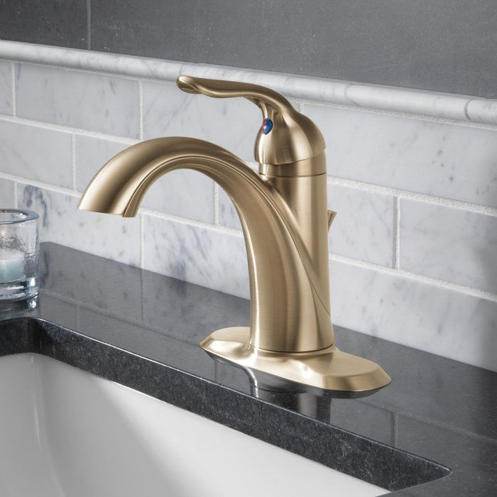 Lahara Single Hole Single Handle Bathroom Faucet With Drain