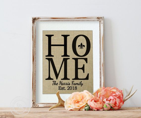 Home Personalized Burlap Wall Decor with Fleur De Lis by KNOTnNEST https://www.etsy.com/listing/196487347/home-personalized-burlap-wall-decor-with?ref=shop_home_active_23