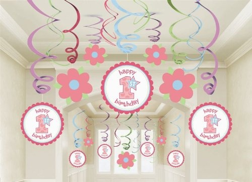 1st Birthday Girl Mega Value Pack Swirl Decorations: 1Stbirthday, Birthday Parties, Swirls Decor, 1St Birthday Girls, Parties Ideas, Decorations, 1St Birthdays, Parties Decor, Birthday Ideas