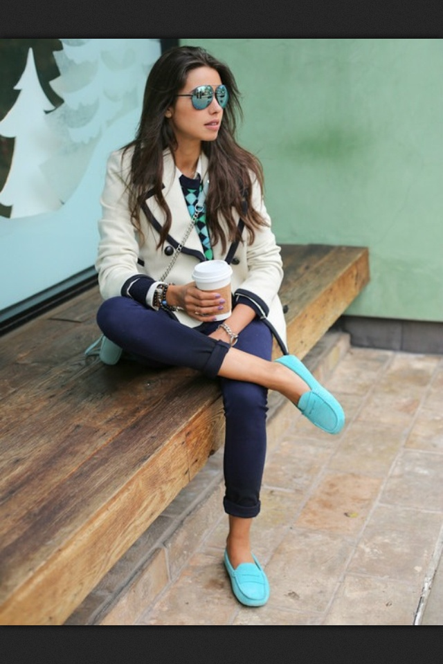 Blue Flats And Sweater Spring Outfit | Dream Closet ...