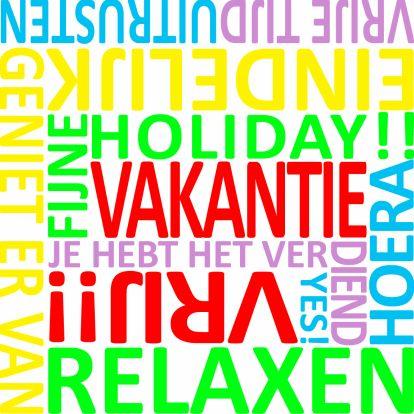 Vakantie woordenkaart - Vakantiekaarten - Kaartje2go