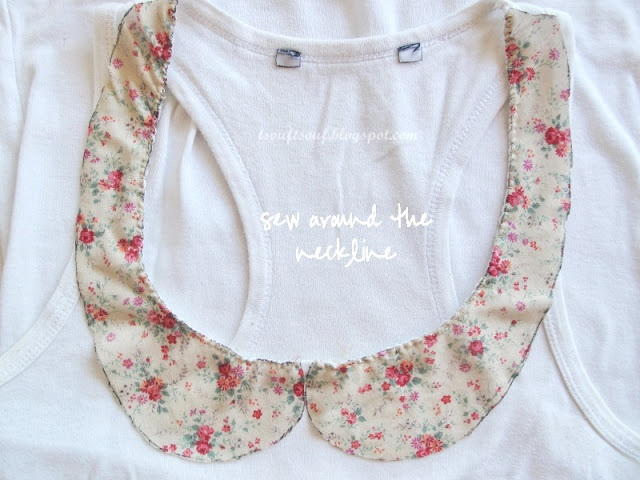 Peter Pan collar T-shirt ● D.I.Y. /updated