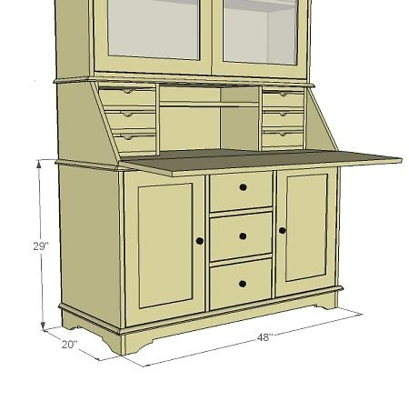 China Hutch Cabinet Woodworking Plan - WoodWorking Projects & Plans