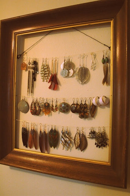 my diy earring holder