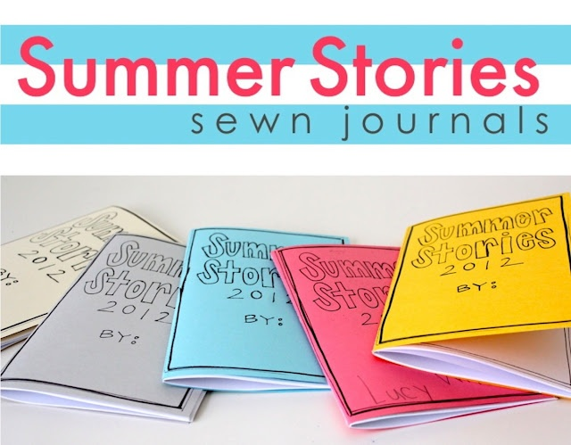 Cute, simple sewn books. Great for writing project for notebooking.: Ideas, Books, Summer Adventure, Tutorials, Summer Journals, For Kids, Summer Stories, Sewn Journals, Stories Journals