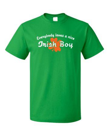 Everybody Loves A Nice Irish Boy   Unisex T-Shirt #annarbortees #stpatricksday #irish #shirts #unisex