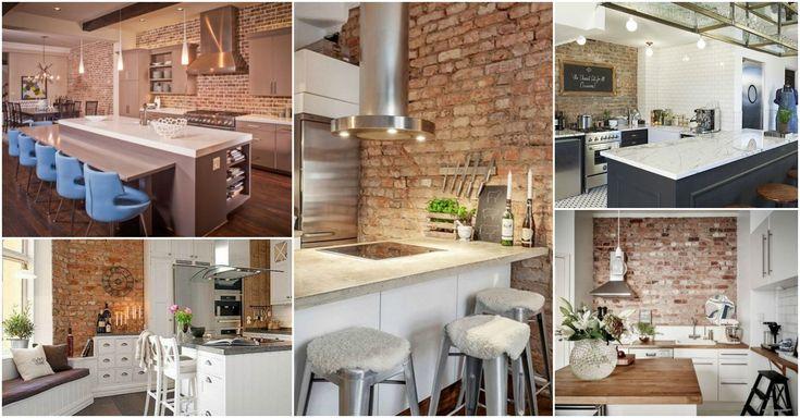 Verlockende Küche Backstein Wand werden Sie Wollen, um Zu Stehlen   – Küchen Möbel