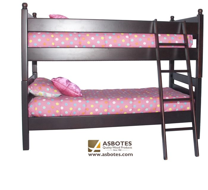 Manhattan Double Bunk (Exclude bedding & mattresses) Available in various colours. For more details contact us on (021) 591-0737 or go to our website www.asbotes.com