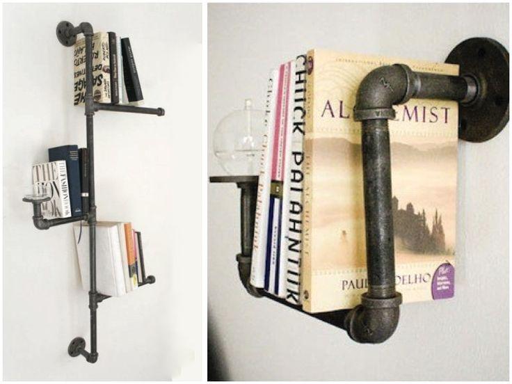 DIY: pipe book shelf - via HOMESICK.nu
