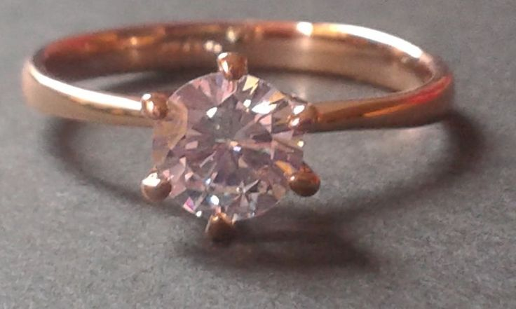 Valentines Day Gift Idea. Solitaire 0.75ct lab diamond dress ring size O 1/2 believable replica